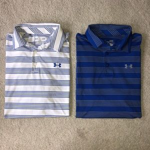 BUNDLE of Under Armour Short Sleeve Striped Polos